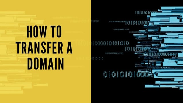 how to transfer a domain